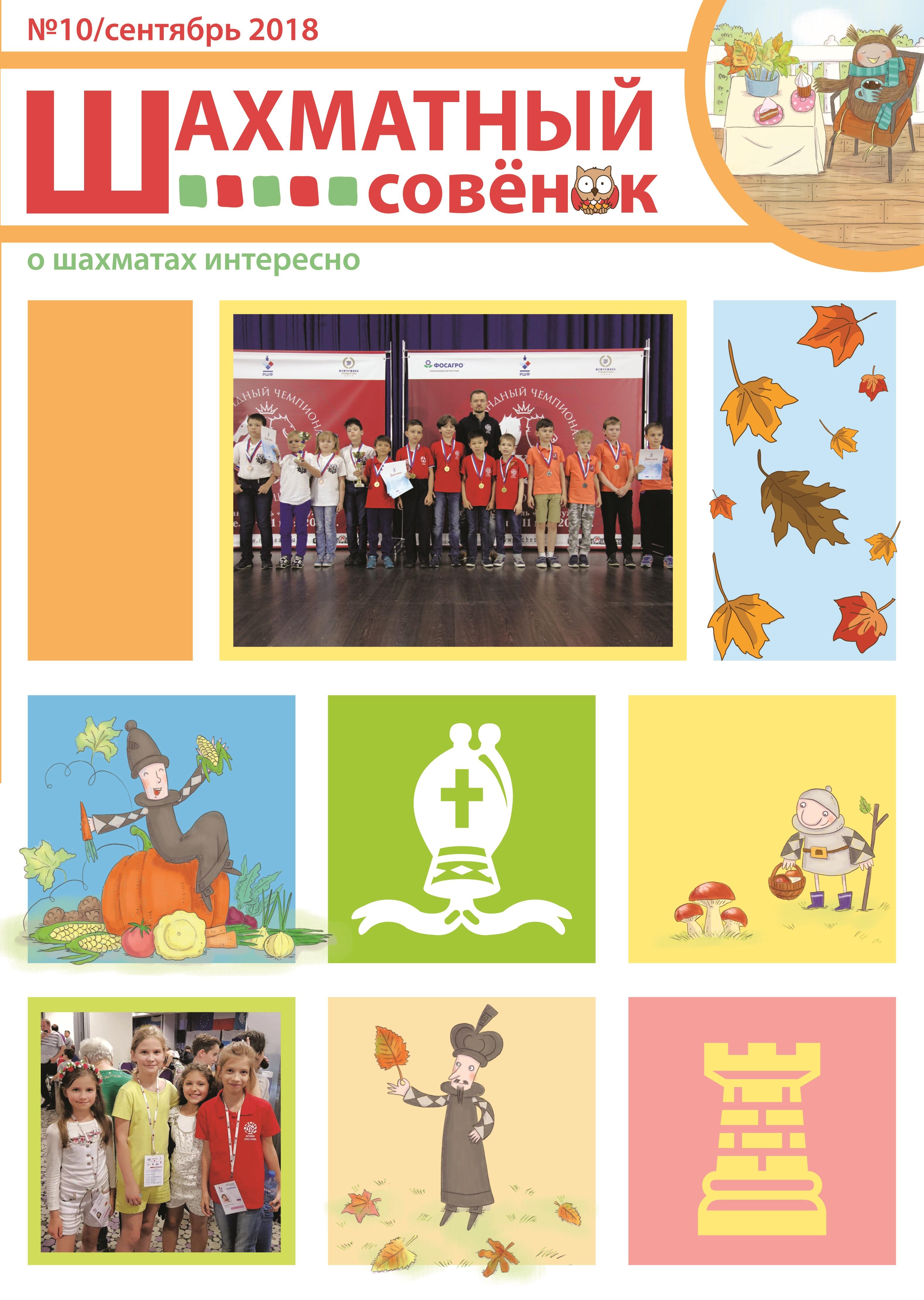 Журнал Шахматный совенок официальный сайт десятый выпуск